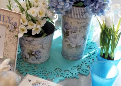 Dekoartikel aus der Frühjahrsaustellung 2012 - Blumenvase aus Metall