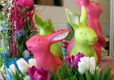 Dekoartikel aus der Frühjahrsaustellung 2012 - Osterhasen in pink und grün