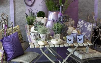 Dekoartikel aus der Frühjahrsaustellung 2013 - Lavendel Gartendeko