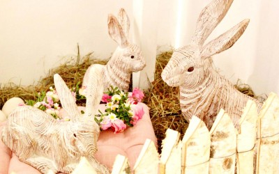 Dekoartikel aus der Frühjahrsaustellung 2014 - Hasen aus Holz