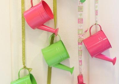 Dekoartikel aus der Green-Pink-Kollektion der Frühjahr-Sommer Ausstellung 2015 - Gießkanne