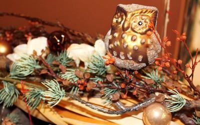 Dekoartikel aus der Weihnachtsaustellung 2012 - Goldene Eule