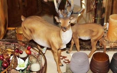 Dekoartikel aus der Weihnachtsaustellung 2012 - Hirsch