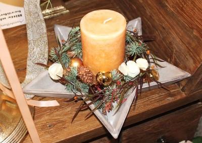 Dekoartikel aus der Weihnachtsaustellung 2012 - Goldene Kerze