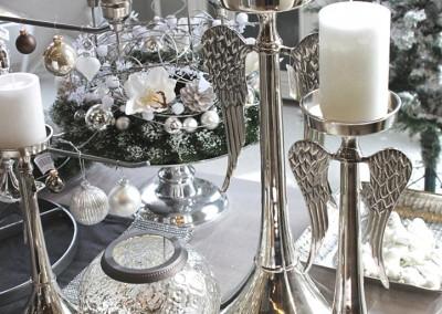 Dekoartikel aus der Weihnachtsaustellung 2012 - Kerzenständer mit Engelsflügeln