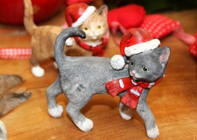Dekoartikel aus der Weihnachtsaustellung 2012 - Katzen Figuren
