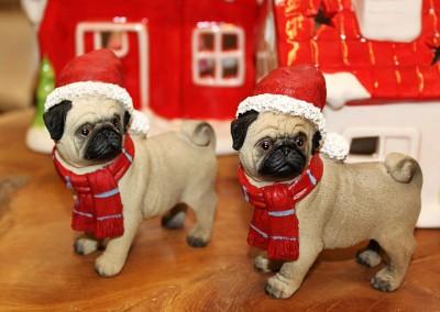 Dekoartikel aus der Weihnachtsaustellung 2012 - Hunde Figuren