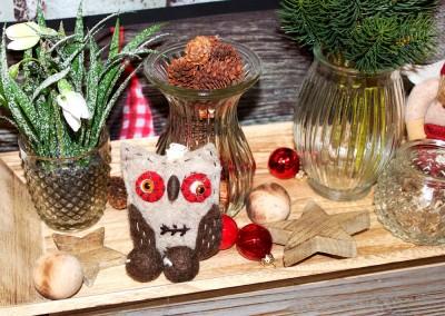 Dekoartikel aus der Weihnachtsaustellung 2013 - Eule