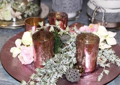 Dekoartikel aus der Weihnachtsaustellung 2013 - Teelichtgläser