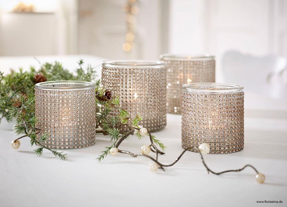 dekoartikel aus der weihnachtsaustellung 2014 strass teelichtglas willenborg dekotrends. Black Bedroom Furniture Sets. Home Design Ideas