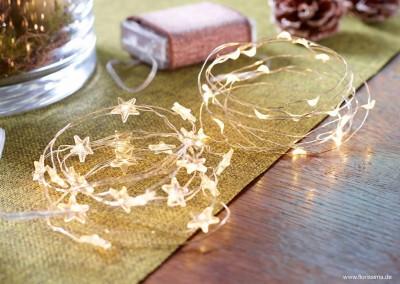 Dekoartikel aus der Weihnachtsaustellung 2014 - Lichterkette-Sterne