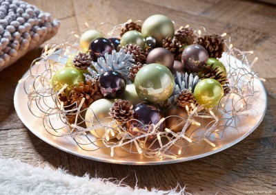 Dekoartikel aus der Weihnachtsaustellung 2014 - Christbaumkugeln