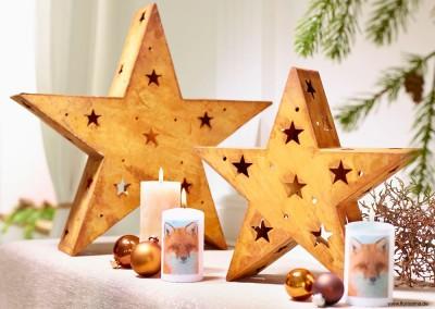 Dekoartikel aus der Weihnachtsaustellung 2014 - Dekosterne