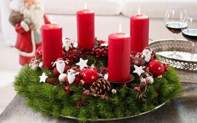 Dekoartikel aus der Weihnachtsaustellung 2014 - Adventskranz