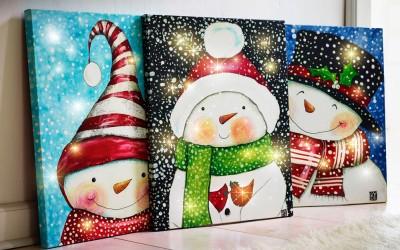 Dekoartikel aus der Weihnachtsaustellung 2014 - Wandbilder