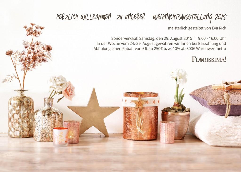 Einladung Weihnachtsausstellung & Rabattaktion