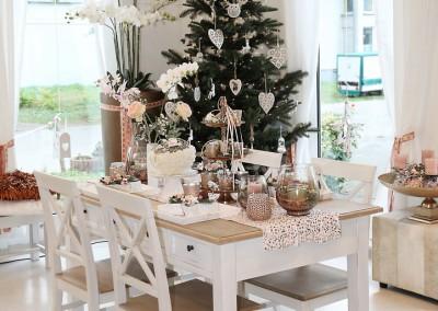 Dekoartikel aus der Kupfer-Kollektion der Weihnachts-Ausstellung 2015 - Weihnachtstisch - Tannenbaum - Christbaumkugel