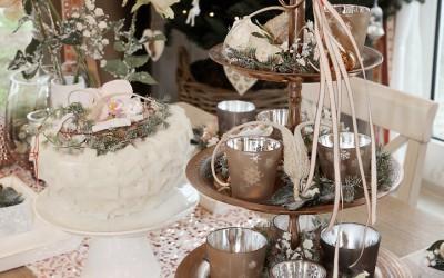 Dekoartikel aus der Kupfer-Kollektion der Weihnachts-Ausstellung 2015 - Teelichtglas - Tischdeko - Etagere