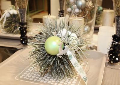 Dekoartikel aus der Mint-Kollektion der Weihnachts-Ausstellung 2015  - Christbaumkugel - Elch - Tischdeko