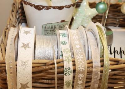 Dekoartikel aus der Mint-Kollektion der Weihnachts-Ausstellung 2015  - Dekoband