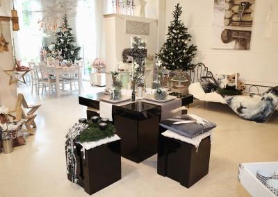 Dekoartikel aus der Mint-Kollektion der Weihnachts-Ausstellung 2015  - Elch - Tischdeko - Tannenbaum