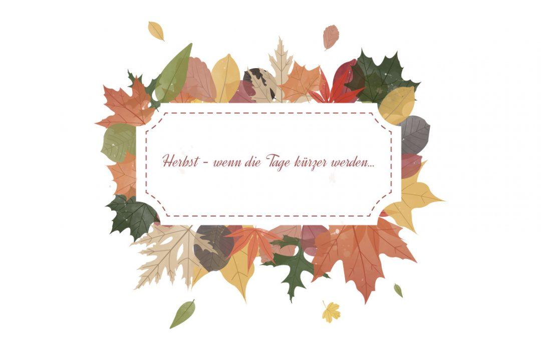 Herbstliche Dekoaccessoires