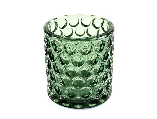 Teelichtglas mit Noppen