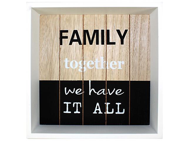 """Holz Wand-Deko """"Family"""""""