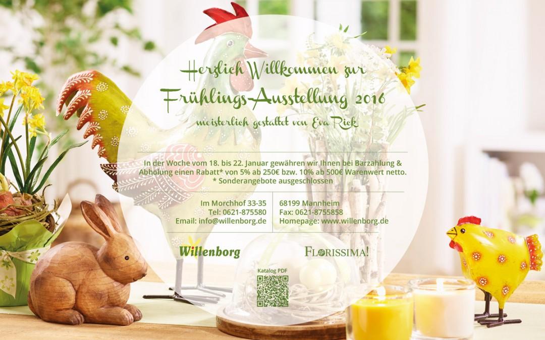 Einladung zur Frühlings-Ausstellung & Rabattaktion