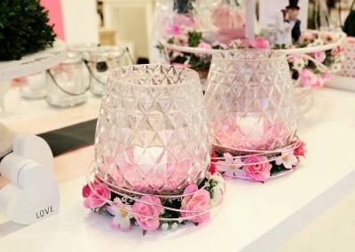 Dekoartikel der Frühlings-Ausstellung 2016 - Teelichtglas