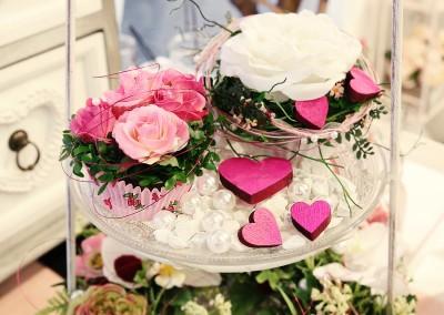Dekoartikel der Frühlings-Ausstellung 2016 - Cupcake - Rose - Herz - Pink