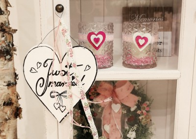 Dekoartikel der Frühlings-Ausstellung 2016 - Teelichtglas - Herz - Hochzeitsdeko