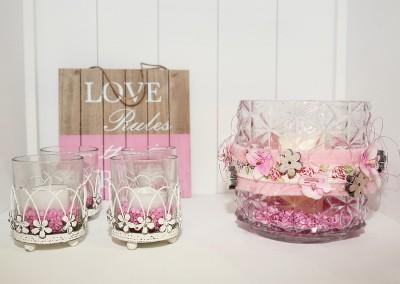 Dekoartikel der Frühlings-Ausstellung 2016 - Teelichtglas - Rosa - Pink