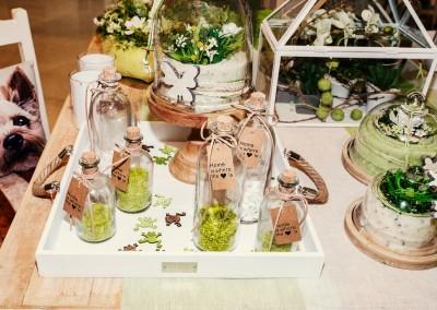 Dekoartikel der Frühlings-Ausstellung 2016 - Grün - Kollektion - Flasche - Glas