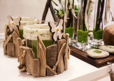 Dekoartikel der Frühlings-Ausstellung 2016 - Grün - Kollektion - Kerze - Glas - Holz