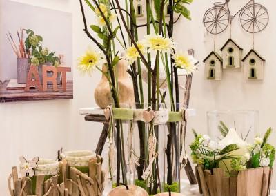 Dekoartikel der Frühlings-Ausstellung 2016 - Grün - Kollektion - Holz - Apfel - Figur