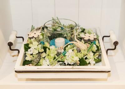 Dekoartikel der Frühlings-Ausstellung 2016 - Maritim - Kollektion - Blume - Tablett - Holz