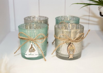 Dekoartikel der Frühlings-Ausstellung 2016 - Maritim - Kollektion - Teelichtglas