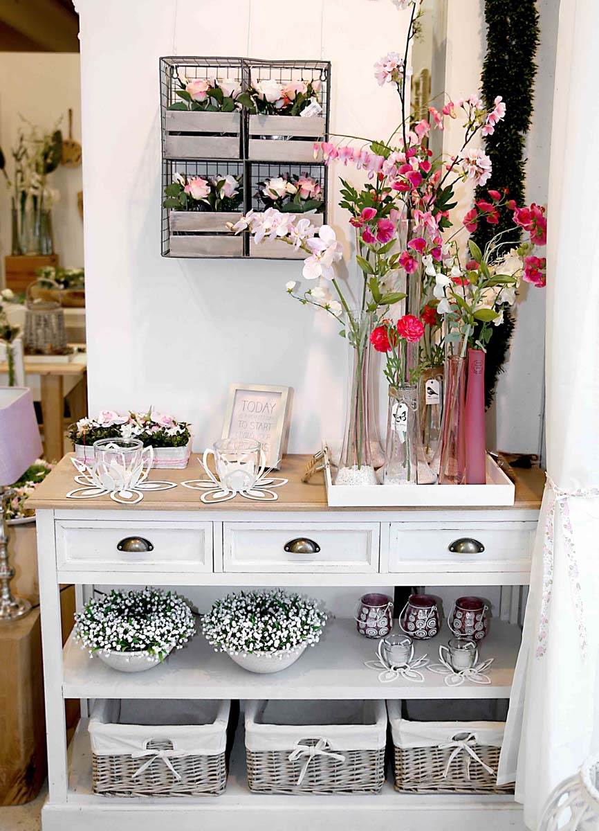 deko fruehling ostern 20 rosa pink romantik windlicht blumen rose willenborg dekotrends. Black Bedroom Furniture Sets. Home Design Ideas