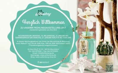 Einladung zur Frühlings- und Oster- Dekoausstellung & Rabattaktion 2017
