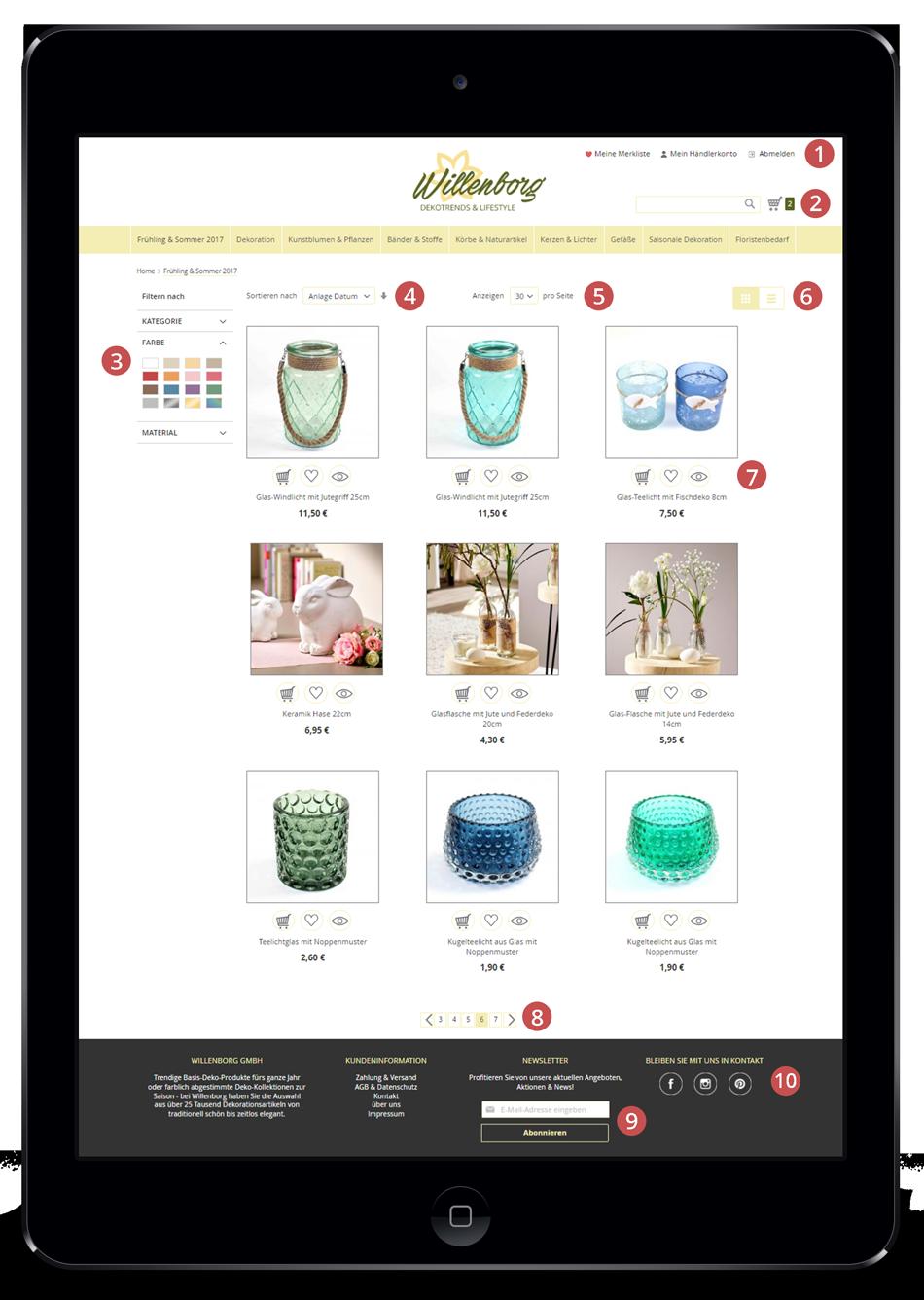 Webshop Neuerungen im Überblick
