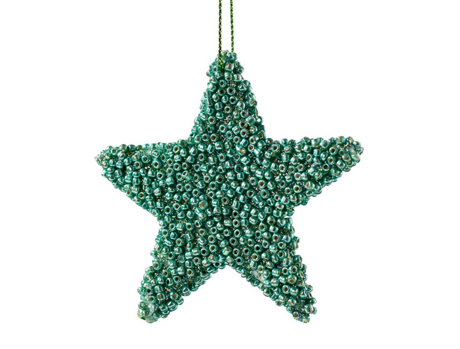 Christbaum-Stern mit Perlen