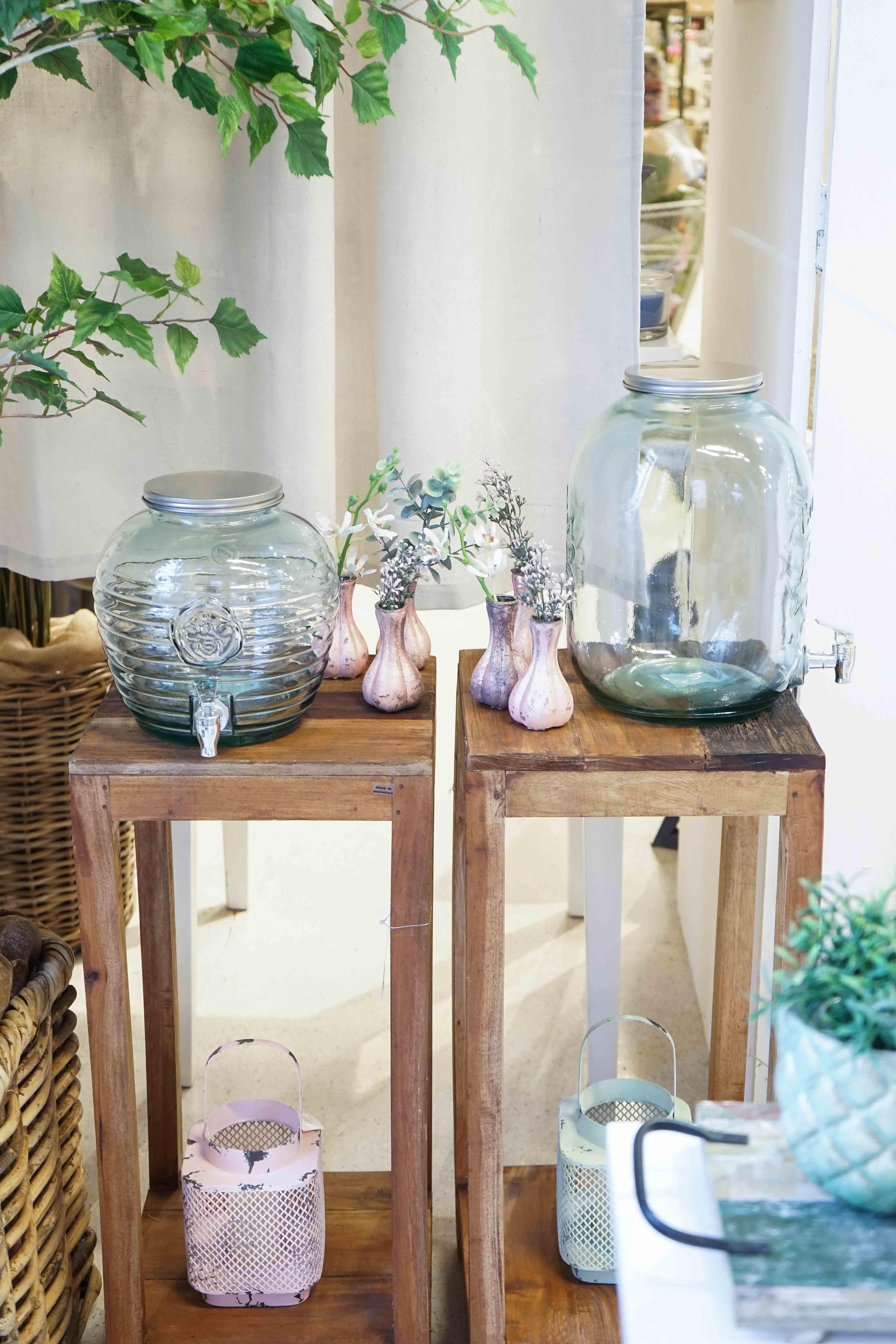 018 Willenborg Deko Fruehling Ostern Boho Vase Bowle Glas