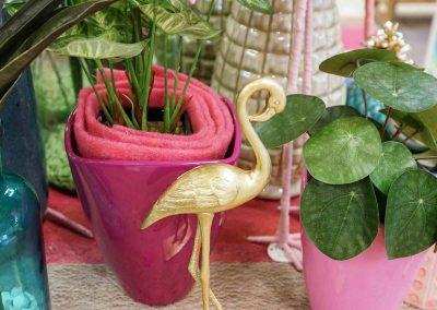 077-willenborg-deko-fruehling-ostern-tropical-sommer-tropisch-pink-rosa-pflanze-kunstblume-summer-gold-flamingo