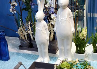 Dekoartikel aus der Frühjahrsaustellung 2012 - Hasen aus Keramik