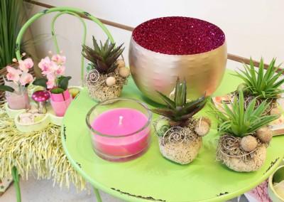 Dekoartikel aus der Green-Pink-Kollektion der Frühjahr-Sommer Ausstellung 2015 - Glitzertopf