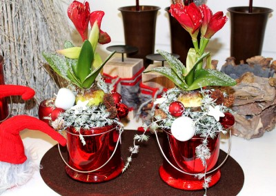 Dekoartikel aus der Weihnachtsaustellung 2013 - Blumen