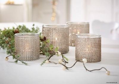 Dekoartikel aus der Weihnachtsaustellung 2014 - Strass-Teelichtglas