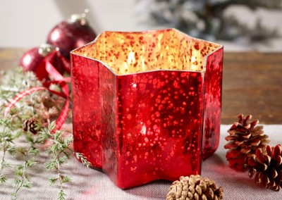 Dekoartikel aus der Weihnachtsaustellung 2014 - Teelichtglas Stern