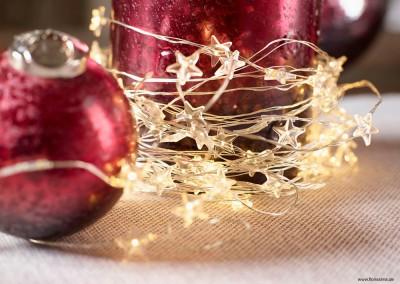 Dekoartikel aus der Weihnachtsaustellung 2014 - Lichterkette - Stern